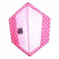 """Überzug für FFP2 Maske """"Punkte Rosa"""" - einlagig - 100% Baumwolle - Waschbar - Stoffhülle - Stoffüberzug Bild 2"""
