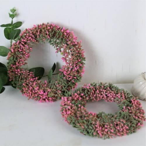 Beerenkranz rosa, Deko Kranz, Ø 16cm, Kranz, Floristikdeko
