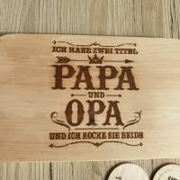 Frühstücksbrett/Vesperbrett/Schneidebrett Laser Gravur Papa/Opa Bild 2