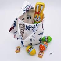 Geschenkbeutel nicht nur für Ostern, Stoffbeutel für kleine Geschenke, kleine Stofftasche,  h 16 x b 20 cm Bild 1