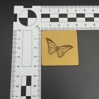 Kunstlederlabel Schmetterling Bild 2
