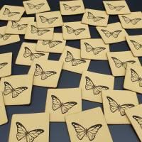 Kunstlederlabel Schmetterling Bild 3