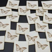 Kunstlederlabel Schmetterling Bild 7