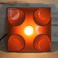Retro Keramik Wandlampe 70er Jahre orange Bild 1