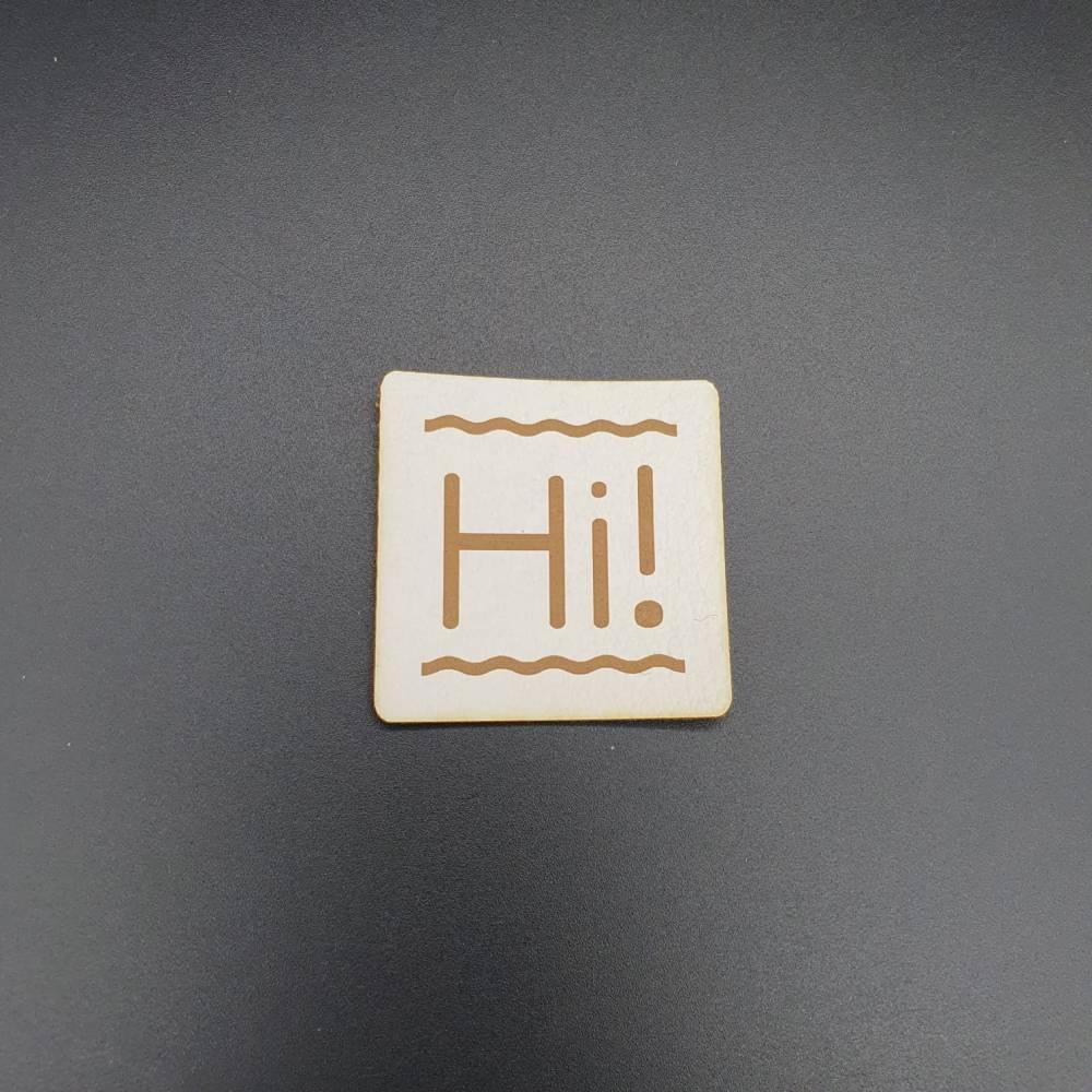 """Kunstlederlabel """"Hi!"""" Bild 1"""