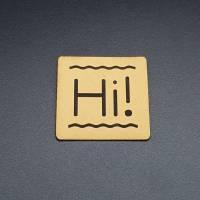 """Kunstlederlabel """"Hi!"""" Bild 4"""
