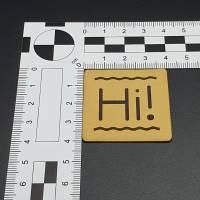 """Kunstlederlabel """"Hi!"""" Bild 5"""