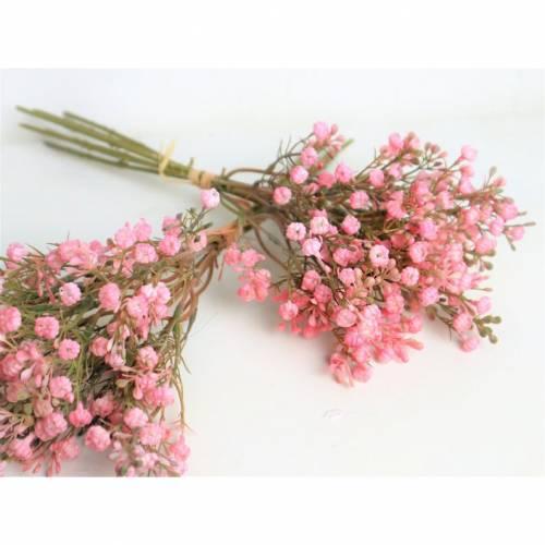 Schleierkraut rosa-pink, extra große Blüten, 1 Bund, künstlich, Kunstblumen, Floristikbedarf