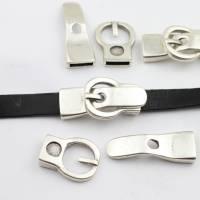 Gürtelschließe Verschluss für 10mm Lederarmband zur Schmuckherstellung, Metall Zamak - ZM863 Bild 1