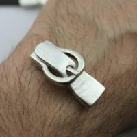 Gürtelschließe Verschluss für 10mm Lederarmband zur Schmuckherstellung, Metall Zamak - ZM863 Bild 2