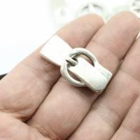 Gürtelschließe Verschluss für 10mm Lederarmband zur Schmuckherstellung, Metall Zamak - ZM863 Bild 5
