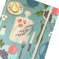 """Notizbuch Rezeptbuch """"Salt&Herbs"""" A5 Hardcover stoffbezogen Stoff Retro Küche Kochen Hobbykoch Rezept Bild 1"""