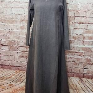 Wikinger Leinen Kleid braun, used look, Unterkleid Mittelalter, Leinenkleid, stone washed, Reenactment, Cosplay, LARP Bild 2
