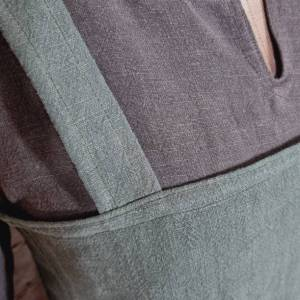Wikinger Leinen Kleid braun, used look, Unterkleid Mittelalter, Leinenkleid, stone washed, Reenactment, Cosplay, LARP Bild 3