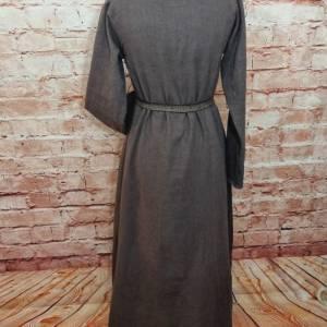 Wikinger Leinen Kleid braun, used look, Unterkleid Mittelalter, Leinenkleid, stone washed, Reenactment, Cosplay, LARP Bild 5