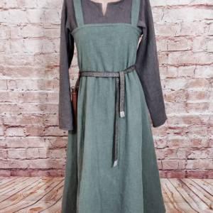 Wikinger Leinen Kleid braun, used look, Unterkleid Mittelalter, Leinenkleid, stone washed, Reenactment, Cosplay, LARP Bild 7