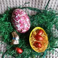 """Geschenkschachtel Osterei zum Befüllen """"Pflaumenblüten"""" S Bild 1"""