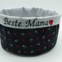 Utensilo 'Beste Mama', Trachtenstoff, Unikat, Muttertag, Geschenk Bild 1