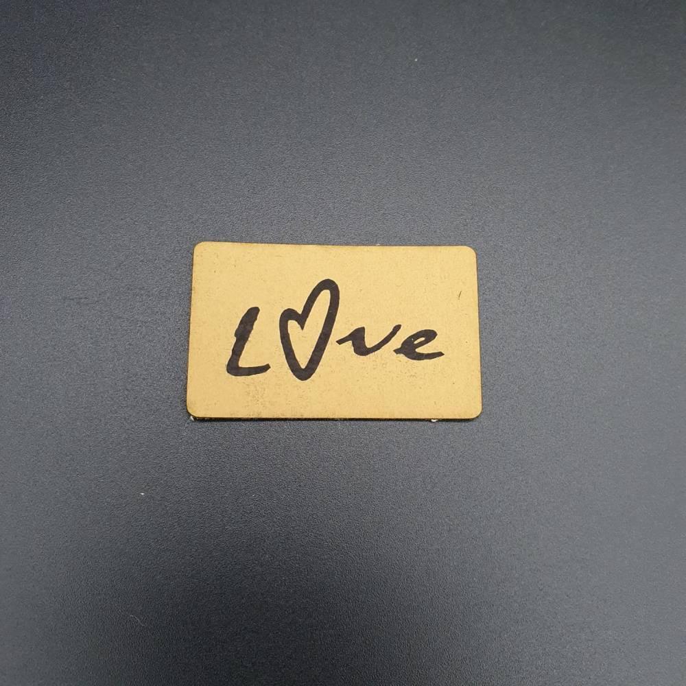 Kunstlederlabel Love Bild 1