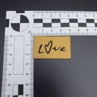 Kunstlederlabel Love Bild 2