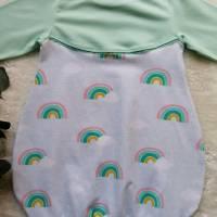 Gr. 104 Pullover / Shirt / Tunika – Mädchen * Regenbogen * Mint Bild 2