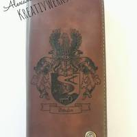 personalisierte gelaserte Leder-, Kunst oder Holz Handyhülle, Gravur, Handy Bild 3