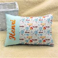 personalisiertes Kissen, Namenskissen, Babykissen, Geburtskissen, für Jungen Mädchen Luftfahrt Geschenk Geburtstag  Bild 2