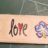 "Lederarmband ""Love"" , LEDER Armband, geprägt, (RLA53)  Bild 4"