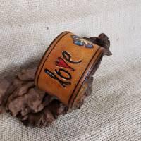 "Lederarmband ""Love"" , LEDER Armband, geprägt, (RLA53)  Bild 5"