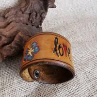 "Lederarmband ""Love"" , LEDER Armband, geprägt, (RLA53)  Bild 7"