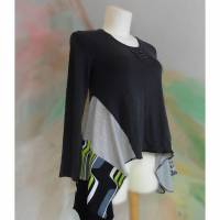 Tunika 44 - 46 Bluse Handmade Upcycling Unikat XL Übergröße L45 Shirt Hängerchen PlusSize Upcycled Bild 1