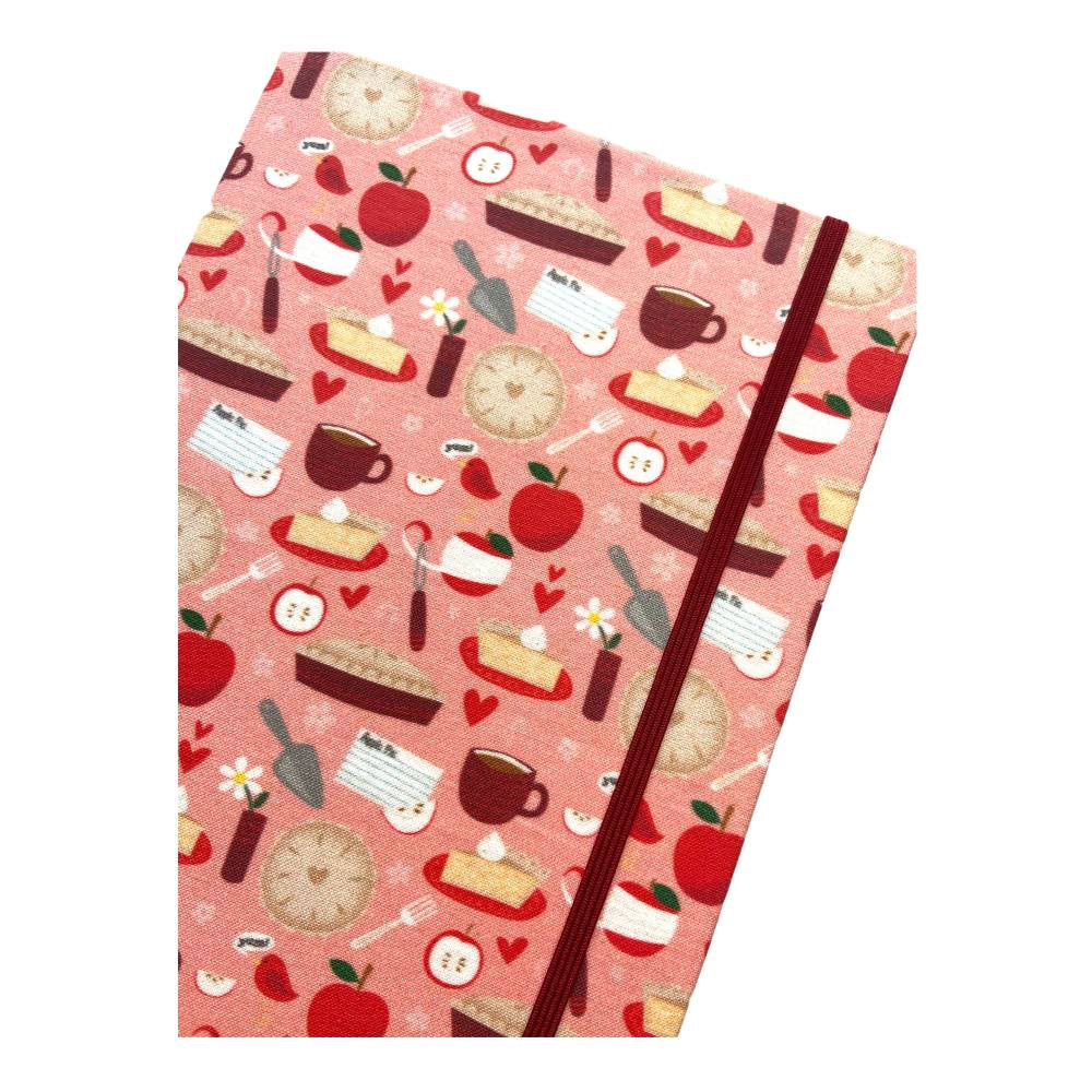 "Notizbuch Rezeptbuch ""Sweet Apple Pie"" Hardcover A5 stoffbezogen Äpfel Apfelkuchen Hobbybäcker Fan Geschenk Bild 1"