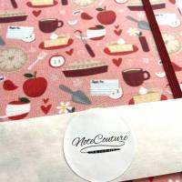 "Notizbuch Rezeptbuch ""Sweet Apple Pie"" Hardcover A5 stoffbezogen Äpfel Apfelkuchen Hobbybäcker Fan Geschenk Bild 5"