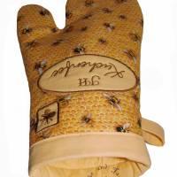 Ein Paar Ofenhandschuhe Bienen Honigwaben Kuchenfee Topfhandschuhe Topflappen Küchenhelfer Geschenke Damen Herren Bild 4