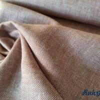 0,5m Leinen Baumwoll Twill Streifen Terra Bild 1