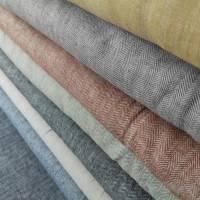 0,5m Leinen Baumwoll Twill Streifen Terra Bild 2
