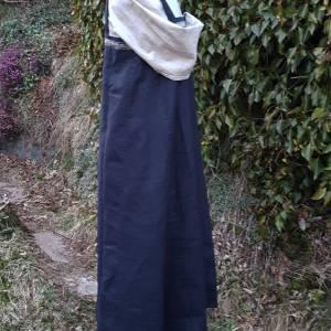 Wikinger Kleid, blaues Leinen Schürzenkleid, Mittelalter Gewandung, Cosplay Kostüm, LARP Bild 4
