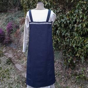 Wikinger Kleid, blaues Leinen Schürzenkleid, Mittelalter Gewandung, Cosplay Kostüm, LARP Bild 6