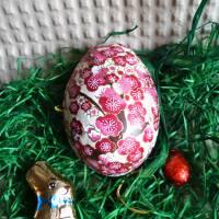 """Geschenkschachtel Osterei zum Befüllen """"Silberne Pflaumenblüten""""  Bild 2"""