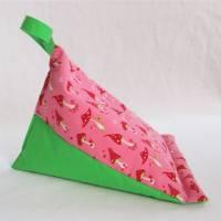 Lesekissen Tabletkissen Fliegenpilz Rot Rosa Grün Pyramide Kissen Lesehilfe Baumwollkissen Vorlesen Lagerungskissen  Bild 2