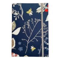 """Notizbuch Tagebuch Kladde """"Winter Dream"""" A5 Hardcover kariert stoffbezogen Blumen floral Geschenk Geschenk Bild 2"""
