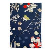 """Notizbuch Tagebuch Kladde """"Winter Dream"""" A5 Hardcover kariert stoffbezogen Blumen floral Geschenk Geschenk Bild 3"""