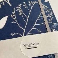 """Notizbuch Tagebuch Kladde """"Winter Dream"""" A5 Hardcover kariert stoffbezogen Blumen floral Geschenk Geschenk Bild 6"""