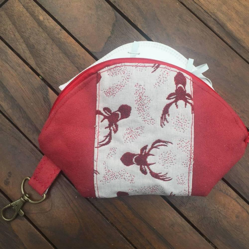 Maskentasche Krimskramtasche HIRSCHE Tasche für Mundnasenmaske  Bild 1