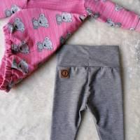 Gr. 56 Baby Set / Shirt / Pullover mit Leggings / Hose – Mädchen * Bär Bild 2