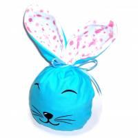 Bunny Bag Gr. L, Blau mit Wunschname - Beutel für Ostergeschenke - Geschenkverpackung - Geschenkbeutel - Ostern Bild 1