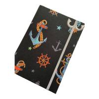 "Notizbuch Kladde ""Anchors"" Hardcover A5 stoffbezogen Anker Seefahrt Segelsport Geschenk Bild 5"