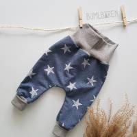Baby-Pumphose French Terry Sterne Bündchen Grau Bild 1