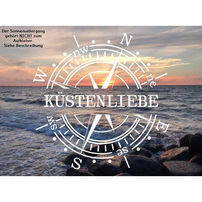Aufkleber Kompass Küstenliebe Bild 1