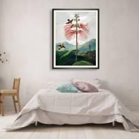 Große Mimose Illustration Blumenbild 1799 Vintage Shabby Boho - Kunstdruck Fineart - Wanddekoration Bild 3